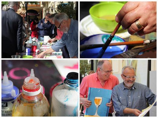 """Action-painting"""" COPAS PARA EL GAYA, de la mano de los pintores Antonio Ballester y Antonio Martínez Mengual."""