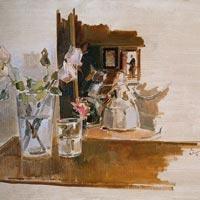 Homenaje a Velázquez. Las Meninas. 1996. Óleo/lienzo. 65 x 81 cm.