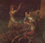 La Guerra (Espanto). Bombardeo en Almería. Óleo sobre lienzo, 79 x 83 cm. 1937
